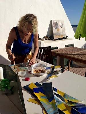 painting outdoor Lanzarote